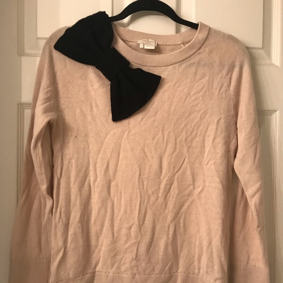 kate spade Sweaters - kate spade cream and black bow sweater